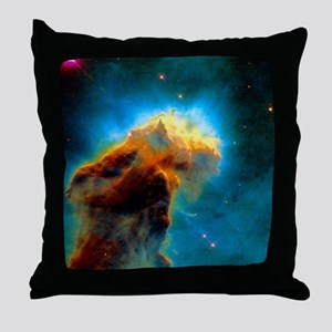 Gas pillars in the Eagle Nebula Throw Pillow