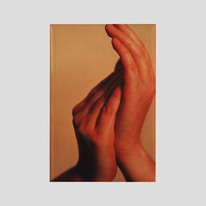 Hands Rectangle Magnet