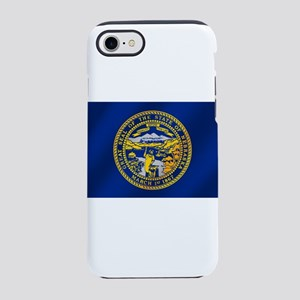 Nebraska Flag iPhone 7 Tough Case