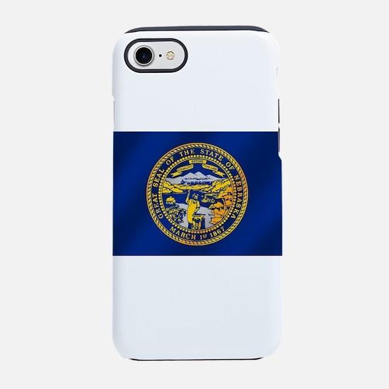 Nebraska Flag iPhone 7 Tough Case