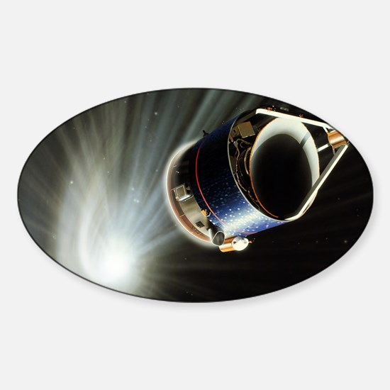 Giotto spacecraft at Halley's Comet Sticker (Oval)