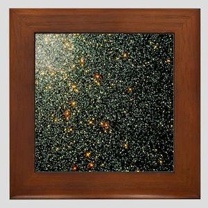 Globular cluster 47 Tucanae Framed Tile