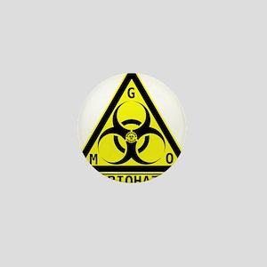 GMO Biohazard Mini Button