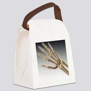 Hand bones Canvas Lunch Bag