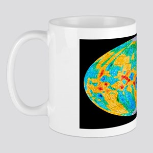 Gravity anomaly map of moon, Mollweide  Mug
