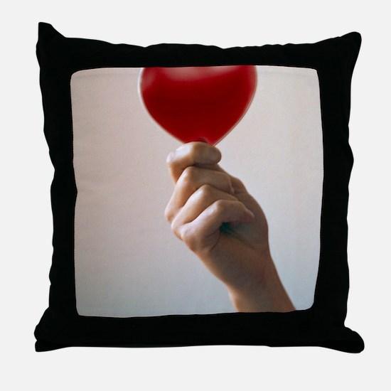 Healthy heart Throw Pillow