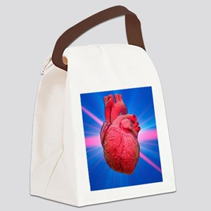 Heart and lightbeams Canvas Lunch Bag