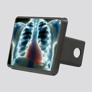 Healthy heart and lungs, X Rectangular Hitch Cover