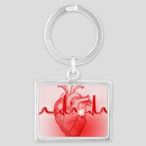 Heart Landscape Keychain