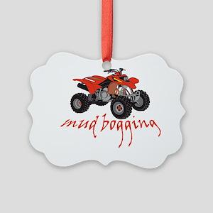 Mud Bogging ATV Picture Ornament