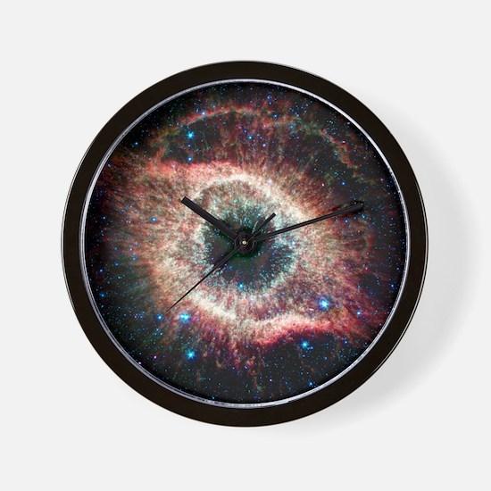 Helix nebula, infrared Spitzer image Wall Clock