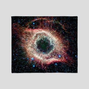 Helix nebula, infrared Spitzer image Throw Blanket