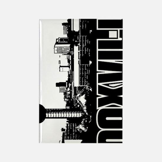 Knoxville Skyline V Rectangle Magnet