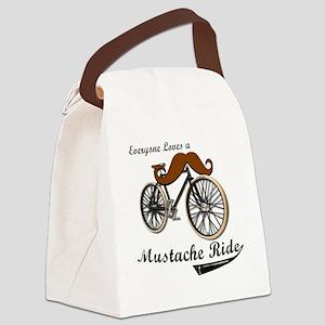 MUSTACHE RIDE Canvas Lunch Bag