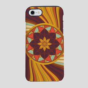 Floral vortex iPhone 7 Tough Case