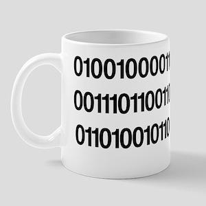 Helvetica, Written In Binary, Mug
