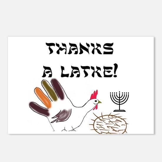 Thanks-A-Latke Thanksgivukkah Celebration Postcard