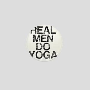 Real Men Do Yoga, Vintage, Mini Button