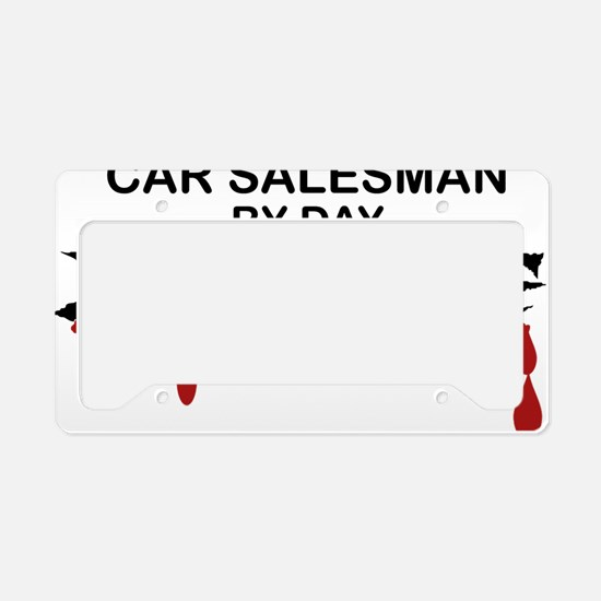 Car Salesman Zombie License Plate Holder