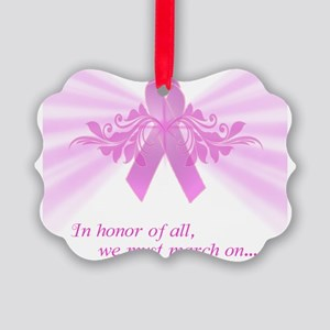 Breast Cancer Awareness Design #2 Picture Ornament