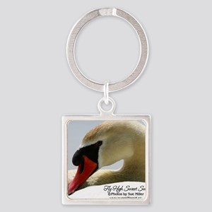 Swan Calendar Cover Square Keychain