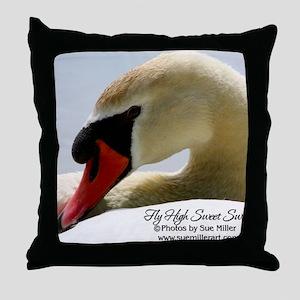 Swan Calendar Cover Throw Pillow