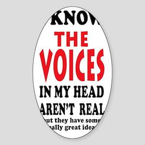 VoicesSigg6x3 Sticker (Oval)