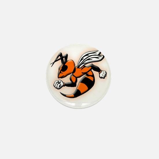 Glowing Hornet Mini Button