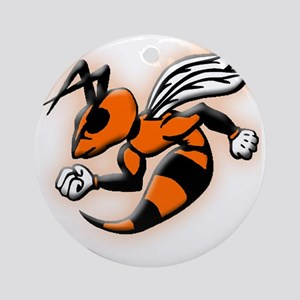 Glowing Hornet Round Ornament