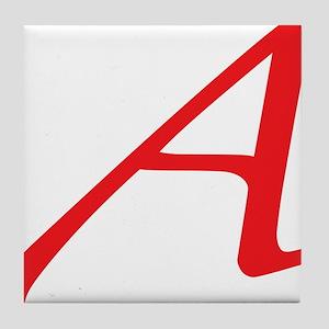 Atheism Scarlet Letter A Symbol Tile Coaster