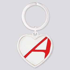 Atheism Scarlet Letter A Symbol Heart Keychain