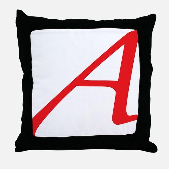 Atheism Scarlet Letter A Symbol Throw Pillow