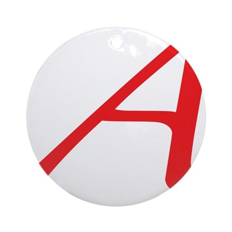 Atheism Scarlet Letter A Symbol Round Ornament By Admincp5051024