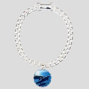 Dolphin Button Charm Bracelet, One Charm