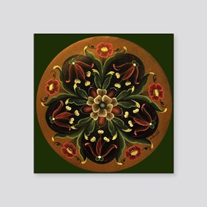 "Rosemaling Square Sticker 3"" x 3"""