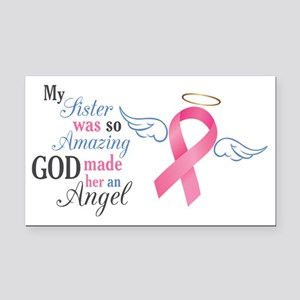My Sister An Angel - Rectangle Car Magnet