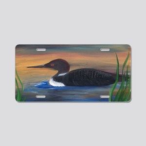 Loon Lake Aluminum License Plate