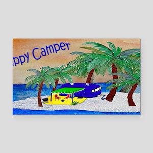 Happy Camper Rectangle Car Magnet