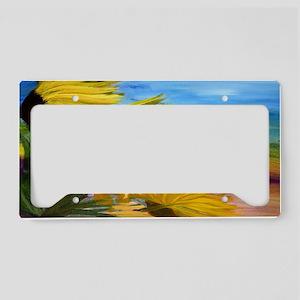 Sunflower Field License Plate Holder