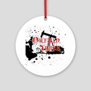 Oilfield Trash Round Ornament