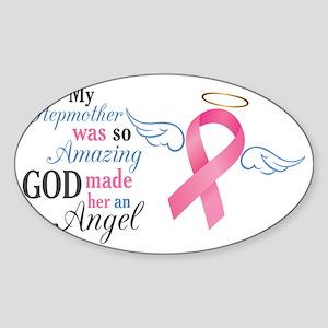 My Stepmother An Angel - Sticker (Oval)