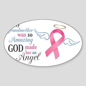 My Grandmother An Angel - Sticker (Oval)