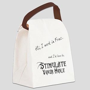 Frac Stimulation Canvas Lunch Bag
