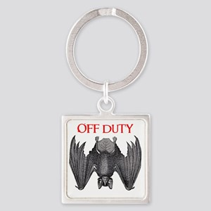Off Duty Vampire Square Keychain