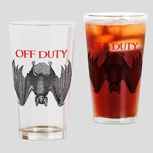 Off Duty Vampire Drinking Glass