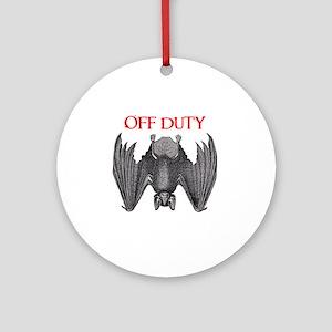 Off Duty Vampire Round Ornament