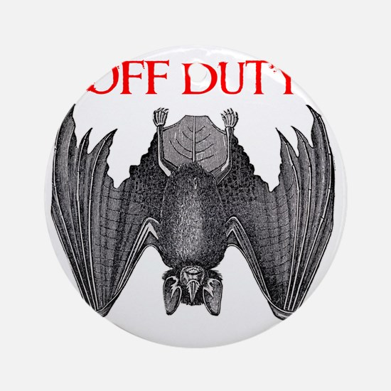 Off Duty Vampire Round Ornament