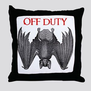 Off Duty Vampire Throw Pillow