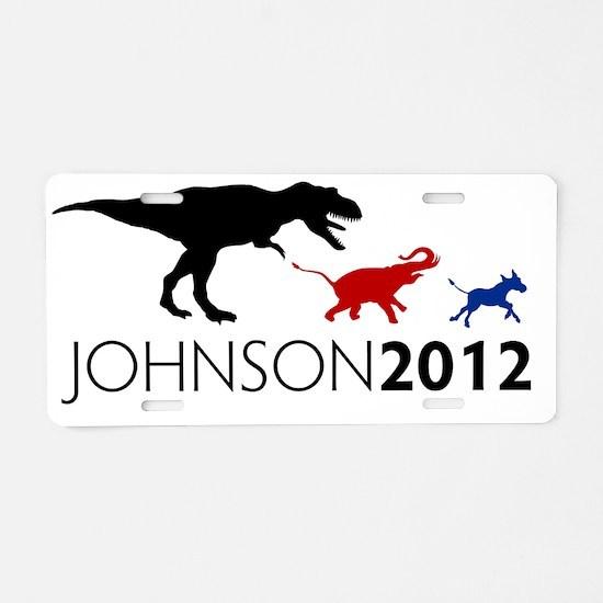 Gary Johnson 2012 Revolutio Aluminum License Plate