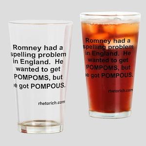 Pompous Romney Drinking Glass